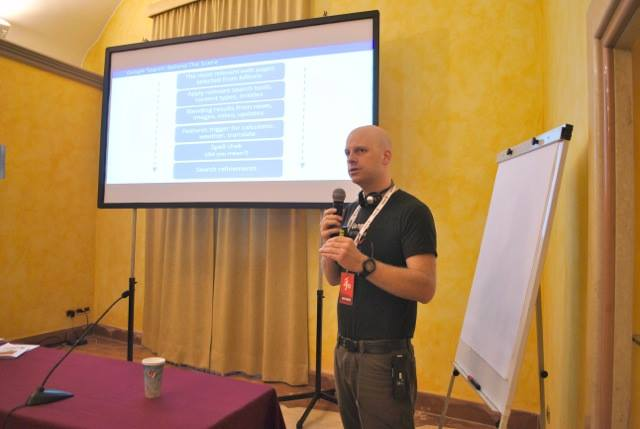 Nicholas Whitaker in one of his Google Masterclass sessions at #ijf14.